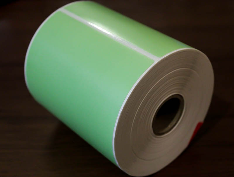 4x6 Pale green tire labels (Pack of 3 rolls)