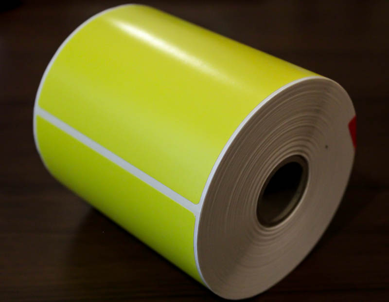 4x6 Pale yellow tire labels (Pack of 3 rolls)
