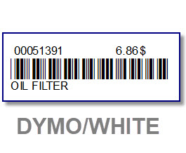 4 Rolls white bar code labels for DYMO 450-Key tag & bar code