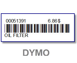 5 Rolls clear bar code labels for DYMO 450-Key tag & bar code