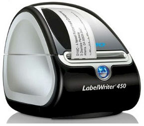 Barcode Label Printer DYMO 450 (incl. a pack of labels)
