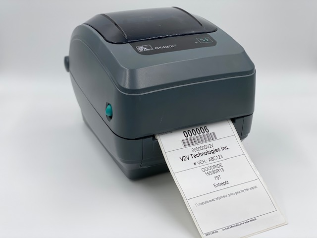 "ZEBRA Label Printer 4"" - tires labels"