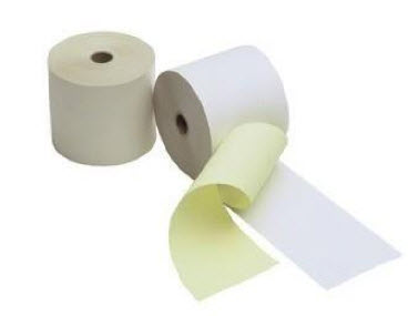 White/Yellow Paper Roll